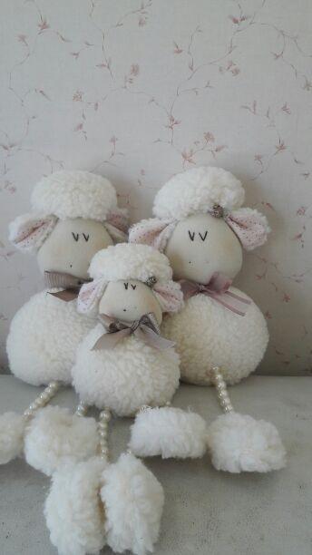 Trio ovelhas pérolas