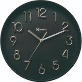 Relógio De Parede Redondo Preto Fosco Herweg 6493-262