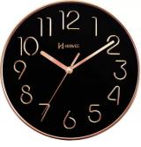 Relógio De Parede Redondo Marron Fosco Herweg 6493-330