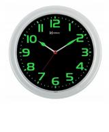 Relógio De Parede Redondo Branco detalhe verde pantone Herweg 660016-196