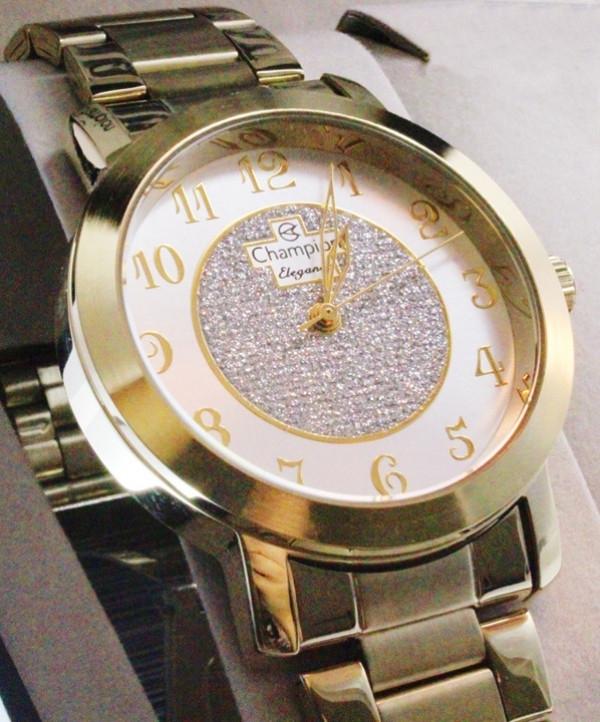 Relógio Champion Femenino CM26466W - Colar E Brinco