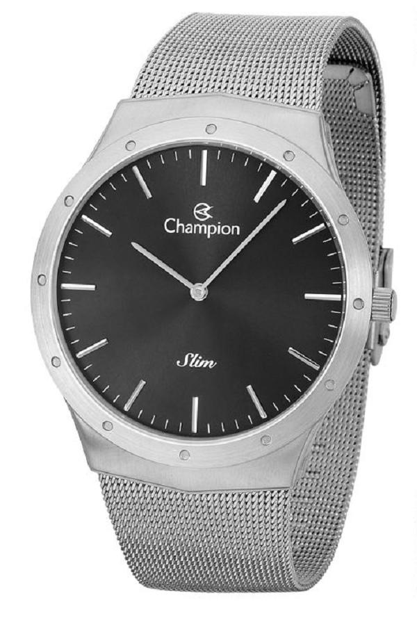 Relógio Champion  Masculino Analógico Prata Slim CA21811T