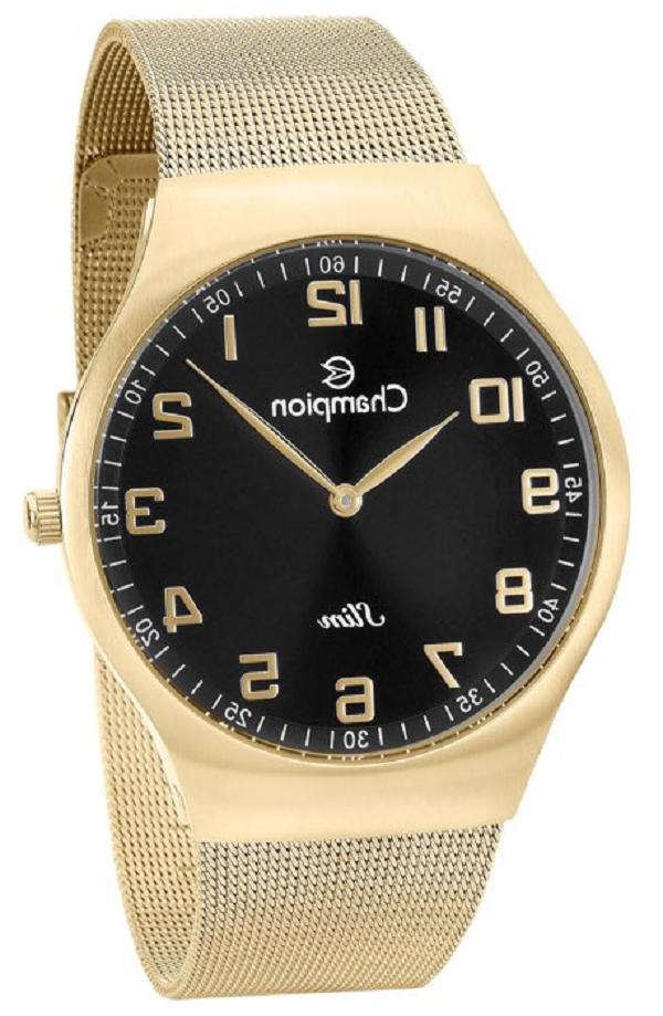 Relógio Champion  Masculino Analógico Dourado Slim CA21839U