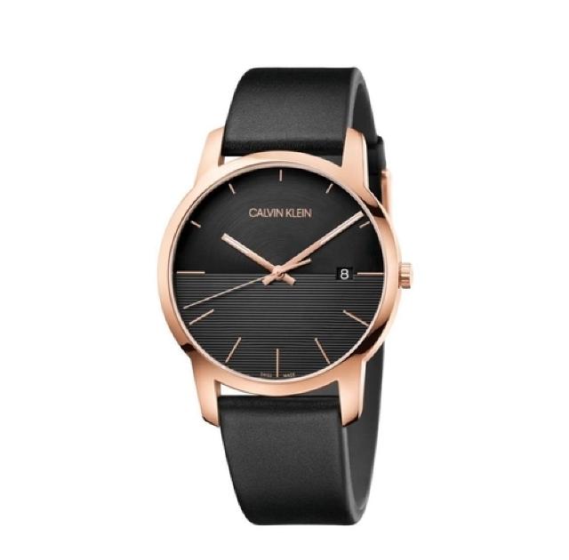Relógio Calvin Klein City Rosegold Couro K2g2g6cz