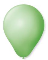 Balão Liso 7.0 C/50 Verde Limao Pic Pic