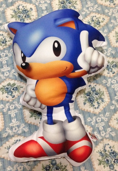 Boneco Almofada - Sonic