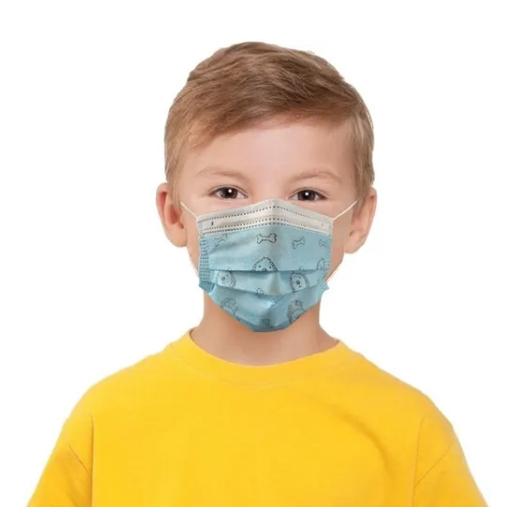 Máscara Descartável Infantil Tripla Hipoalergênica 30 Un