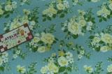 Tecido 100% algodão  - Floral Paris Azul 03 - Fabricart