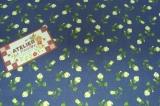 Tecido 100% algodão  - Floral Paris Azul Marinho 01- Fabricart