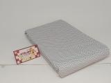 Tricoline 100% algodão - Estampa Chevron Cinza