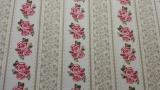 Tecido Nacional 100% Algodão -Rosas Listradas - Igaratinga