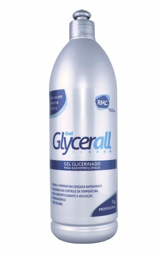 Gel Glycerall Neutro RF 1kg RMC - Kit com 3 unidades