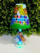 Abajur taça do Bolofofos menino (COM FOTO) - FAZEMOS QUALQUER TEMA