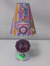Abajur taça Circo Rosa (COM FOTO) FAZEMOS QUALQUER TEMA