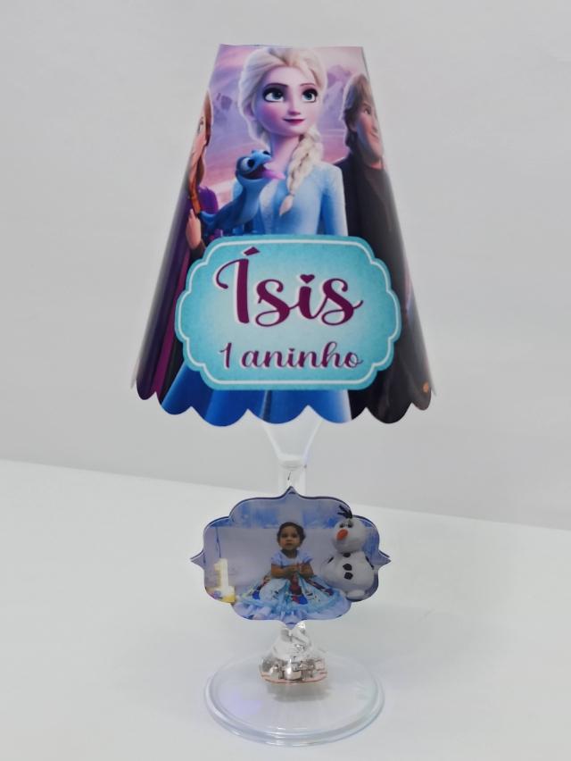 Abajur taça da Frozen (FAZEMOS QUALQUER TEMA)