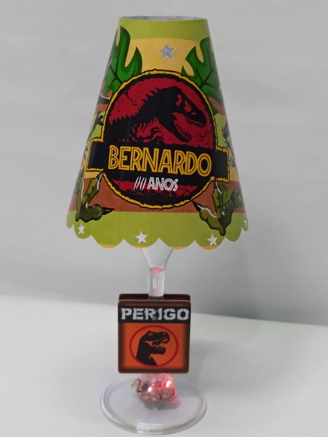 Abajur taça da Jurassic Park  (FAZEMOS QUALQUER TEMA)