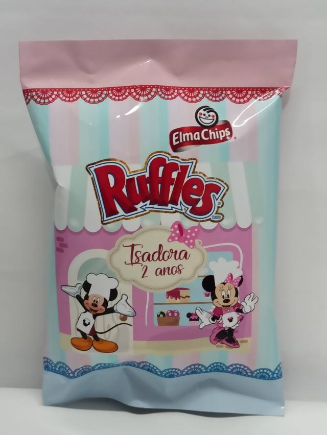 10 Batatas Ruffles personalizada Minnie confeiteira  (FAZEMOS QUALQUER TEMA)
