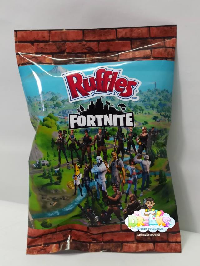 10 Batatas Ruffles personalizada Fortnite (FAZEMOS QUALQUER TEMA)