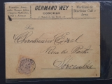 Brazil  comercial cover circuled from CONCHAS Railway Station  Toponimy SHELL   Rare 1890
