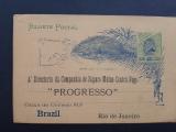 BRASIL Postal Stationery Private FIRE INSURANCE 1890