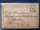 NEW ZEALAND RARE PS CROWN Gotha, GERMANY Public Service Postage Free Label card
