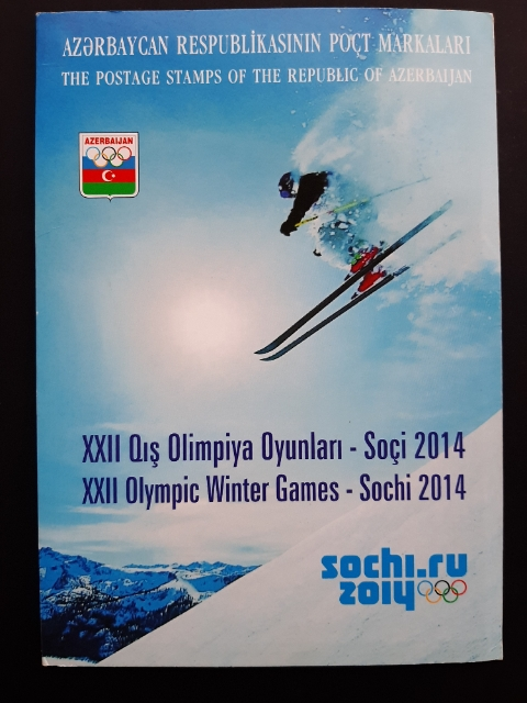 AZERBAIJAN, Complete Special Folder Olympic Games SOCHI2014   FDC + Sheet