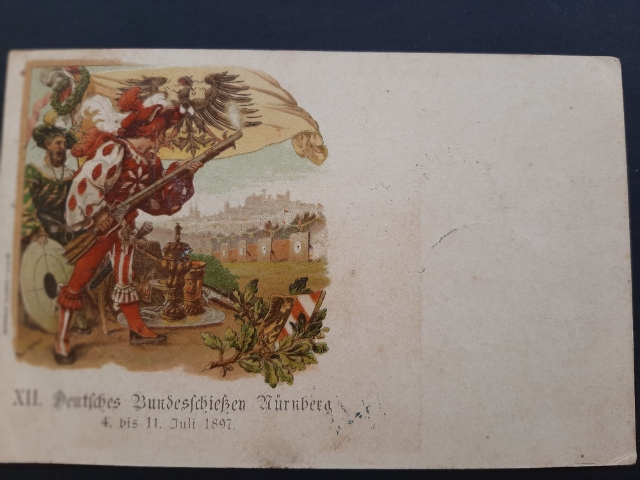 BAYERN BAVIERA Postal Stationery SHOOTING SPORTS Rare