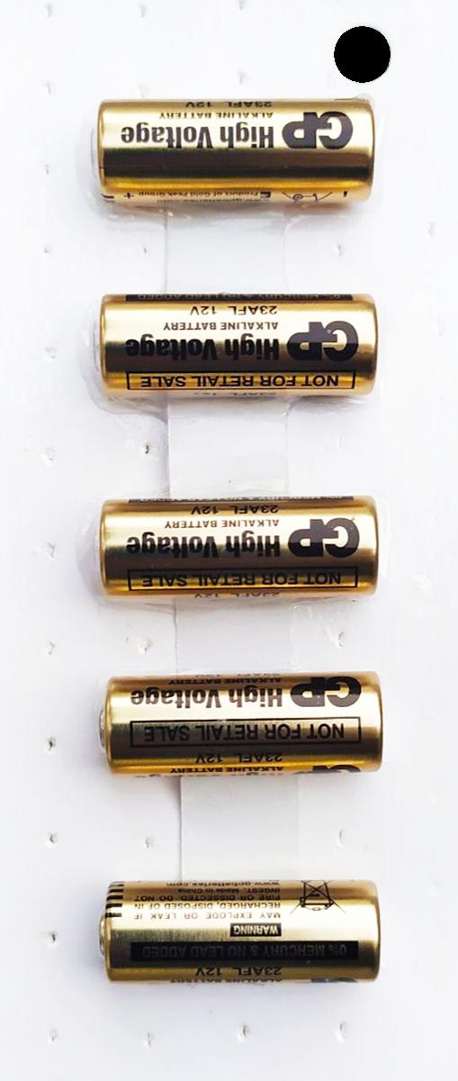 Cartela Branca de Bateria A23 12v GP com 5 Unidades
