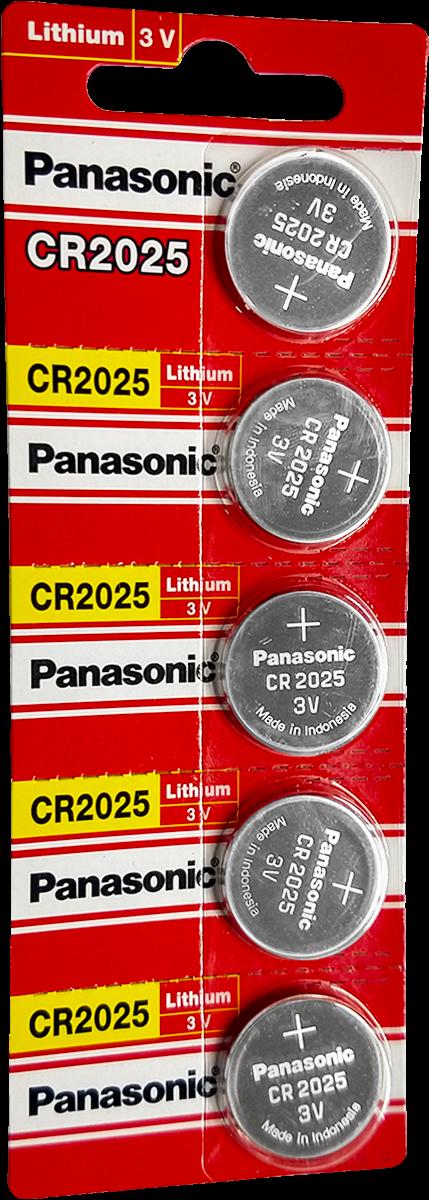 Cartela de Bateria CR2025 3v PANASONIC c/5 unidades