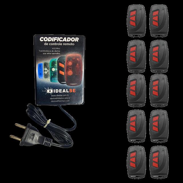 Kit Codificador de Controles Idealse Bivolt + 10 Controles Regravável 2006