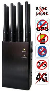 BLOQUEADOR DE CELULAR LOJACK GPS WIFI 3G E 4G 8 ANTENAS