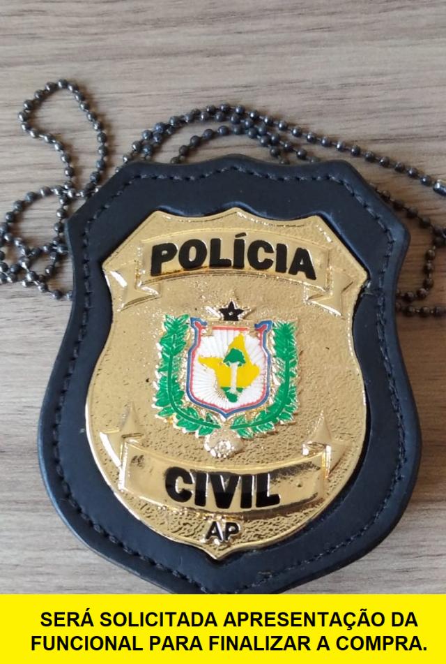DISTINTIVO POLÍCIA CIVIL DO AMAPÁ