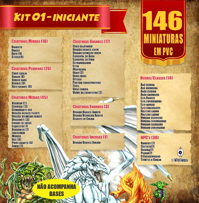 Kit 01 - Iniciante - 146 Miniaturas