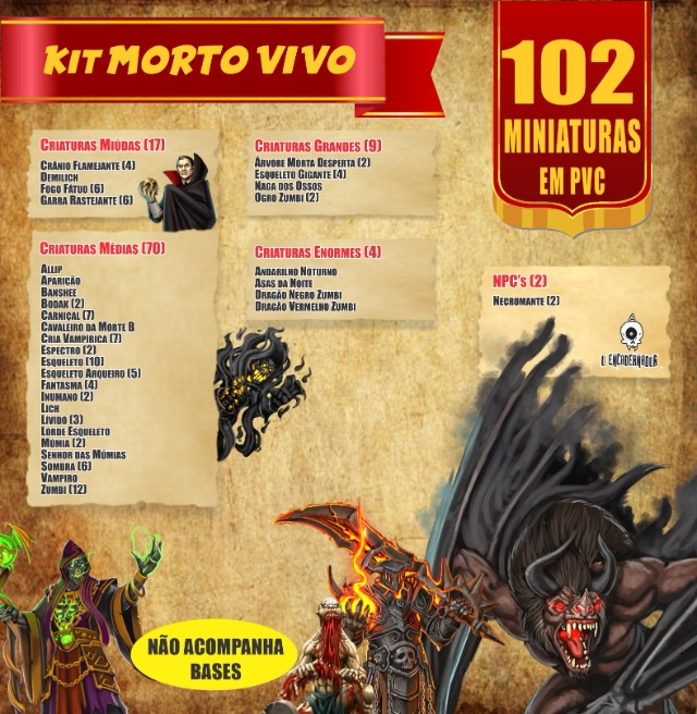 Kit Morto Vivo - 102 Miniaturas