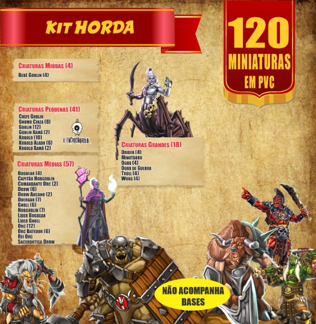 Kit Horda - 120 Miniaturas