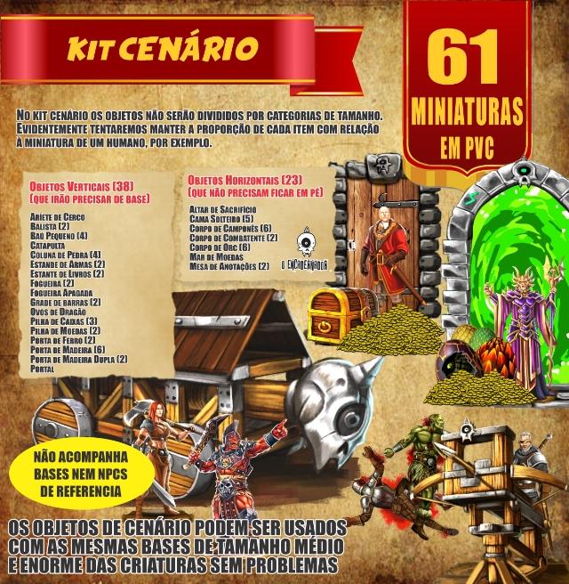 Kit Cenário - 61 Miniaturas
