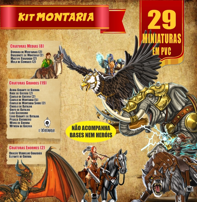 Kit Montarias - 29 Miniaturas