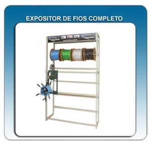 Expositor para 24 carretéis de fios/cabos 1,5mm²/16mm² CERTIFICADO PELO INMETRO Cód. 01.02.0002